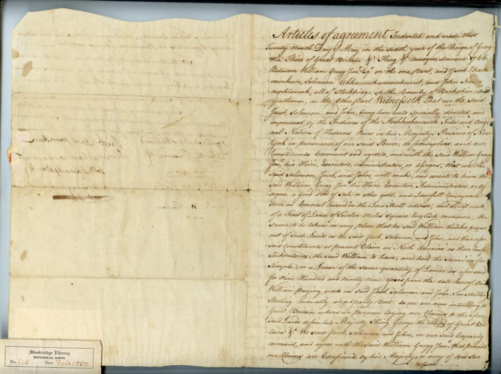 1766 Articles of Agreement, William Gregg, Page 1