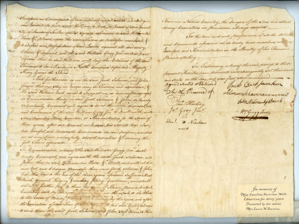 1766 Articles of Agreement, William Gregg, Page 2