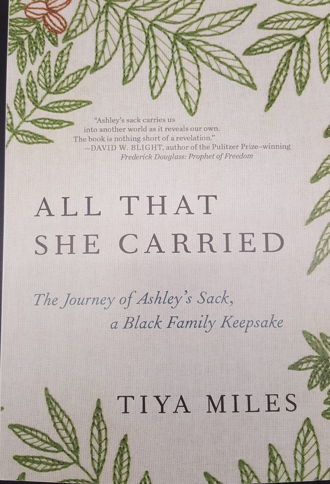 Front Cover for book All That She Carried by Tiya Miles