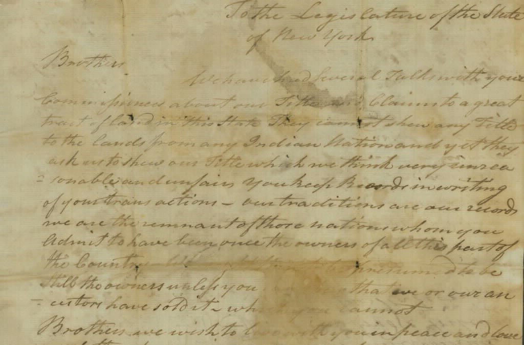 Excerpt from Document by Hendrick Aupaumut circa 1790s
