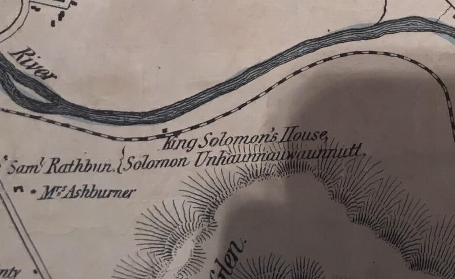 King Solomon's house noted on an 1855 Stockbridge map
