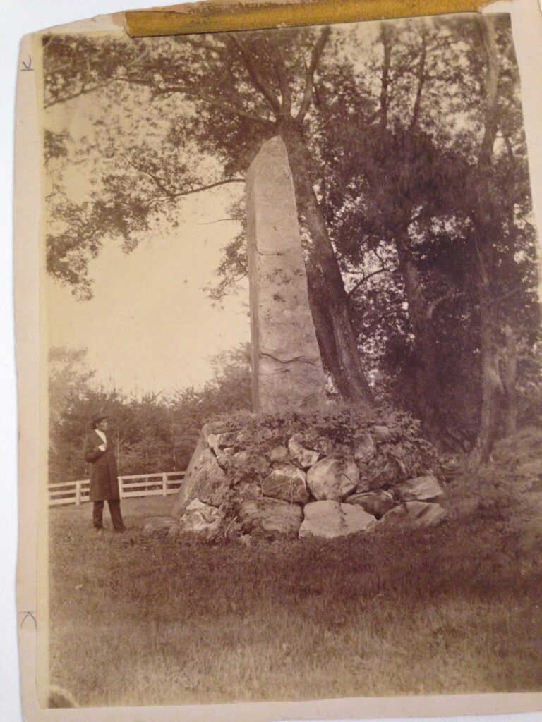 Image of the Indian Burial Ground, Stockbridge, MA 1879