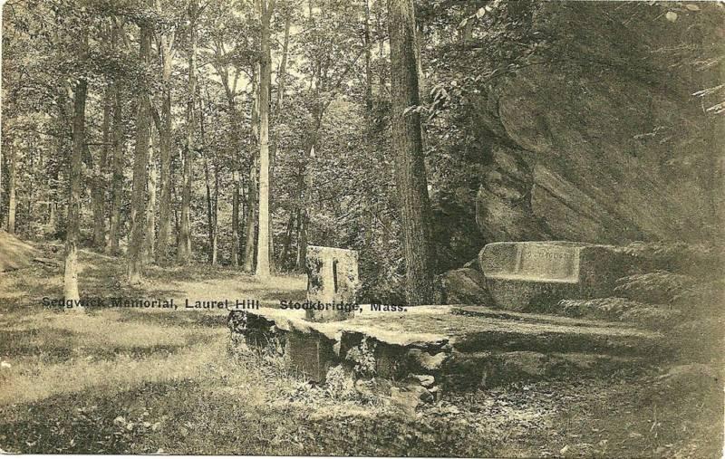 View of Sedgwick Memorial, Laurel Hill, Stockbridge, Massachusetts, late 19th/early 20th century